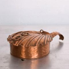 ART DECO Silent Butler Box Flip Top Crumb Catcher 1960s Gregorian Copper - 1606151