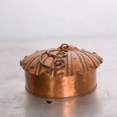 ART DECO Silent Butler Box Flip Top Crumb Catcher 1960s Gregorian Copper - 1606152