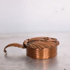 ART DECO Silent Butler Box Flip Top Crumb Catcher 1960s Gregorian Copper - 1606153