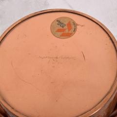 ART DECO Silent Butler Box Flip Top Crumb Catcher 1960s Gregorian Copper - 1606158