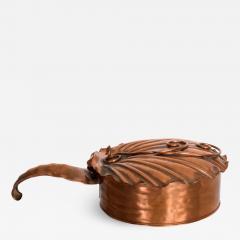 ART DECO Silent Butler Box Flip Top Crumb Catcher 1960s Gregorian Copper - 1607156