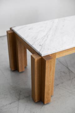 ATELIER ORANGE OAK AND MARBLE COFFEE TABLE - 1104508