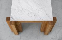 ATELIER ORANGE OAK AND MARBLE COFFEE TABLE - 1104510