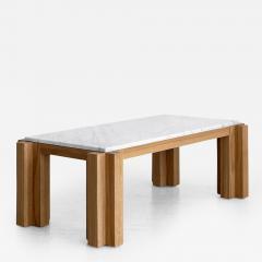 ATELIER ORANGE OAK AND MARBLE COFFEE TABLE - 1104944