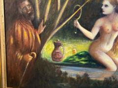 ATMOSPHERIC NUDE BATHING IN FOREST WITH WATCHERS PAINTING - 1569335