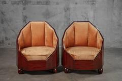 AUSTRIAN CUBIST CHAIRS AND SETTEE - 914790