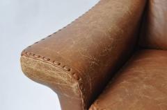 Aage Christensen Aage Christiansen Danish Leather Sofa 1960s - 394165