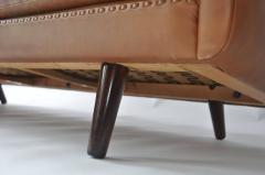 Aage Christensen Aage Christiansen Danish Leather Sofa 1960s - 394167