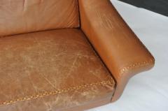 Aage Christensen Aage Christiansen Danish Leather Sofa 1960s - 394168