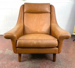 Aage Christiansen High Back Danish Leather Lounge Chair - 1982668