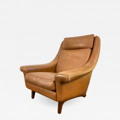 Aage Christiansen High Back Danish Leather Lounge Chair - 1985857