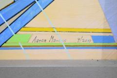 Aaron Marcus Aaron Marcus Abstract Geometric Oil on Canvas Dated 2010 - 1457699