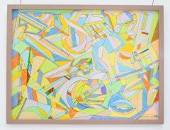 Aaron Marcus Aaron Marcus Abstract Geometric Oil on Canvas Dated 2010 - 1457700