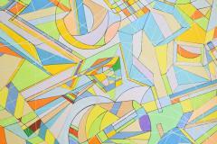 Aaron Marcus Aaron Marcus Abstract Geometric Oil on Canvas Dated 2010 - 1457701