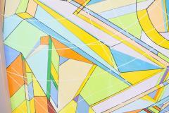 Aaron Marcus Aaron Marcus Abstract Geometric Oil on Canvas Dated 2010 - 1457702