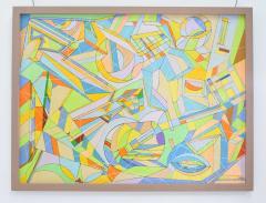 Aaron Marcus Aaron Marcus Abstract Geometric Oil on Canvas Dated 2010 - 1457703
