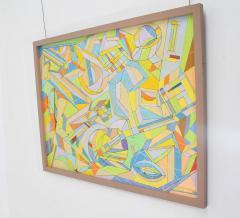 Aaron Marcus Aaron Marcus Abstract Geometric Oil on Canvas Dated 2010 - 1457705
