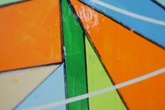 Aaron Marcus Aaron Marcus Abstract Geometric Oil on Canvas Dated 2010 - 1457706