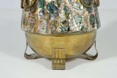 Abalone Shell and Brass Water Pitcher by Salvador Teran - 775140