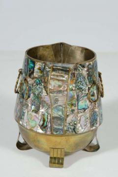 Abalone Shell and Brass Water Pitcher by Salvador Teran - 775307