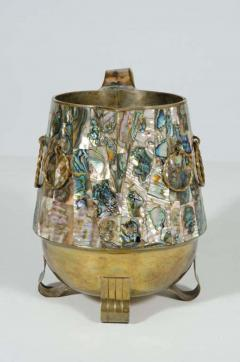 Abalone Shell and Brass Water Pitcher by Salvador Teran - 775308