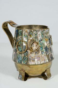 Abalone Shell and Brass Water Pitcher by Salvador Teran - 775309