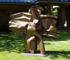 Abbott Pattison Abbott Pattison Sculpture Abstract Bronze Titled Flight 1977 Large Scale - 1570251