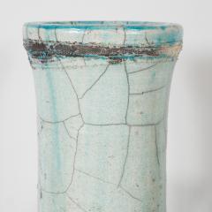 Abe Kiraku Three Raku Ceramic vases - 1467013
