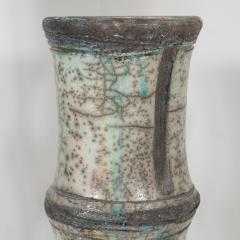 Abe Kiraku Three Raku Ceramic vases - 1467014