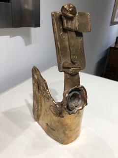 Abstract Bronze Sculpture Figure Flower - 1630172