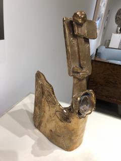 Abstract Bronze Sculpture Figure Flower - 1630176