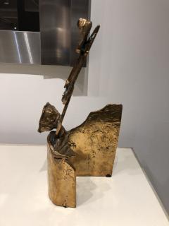 Abstract Bronze Sculpture Figure Flower - 1630177