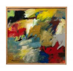 Abstract Expressionist Painting by Susan Morosky Neon Day Field 3 - 1853185