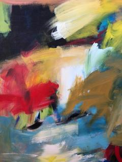 Abstract Expressionist Painting by Susan Morosky Neon Day Field 3 - 1853191