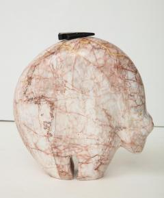 Abstract Pink Marble Bear Figure - 1637534