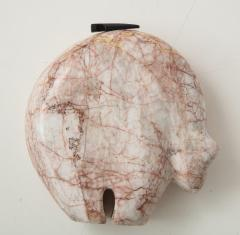 Abstract Pink Marble Bear Figure - 1637537