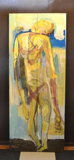 Abstract Portrait Oil on Board - 1042451