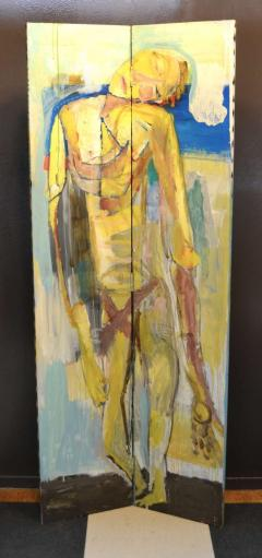 Abstract Portrait Oil on Board - 1042453