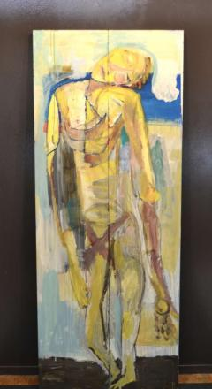 Abstract Portrait Oil on Board - 1042454