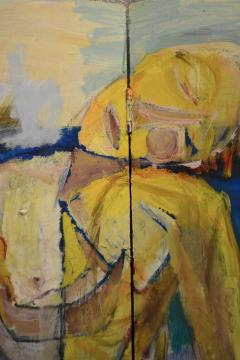 Abstract Portrait Oil on Board - 1042455