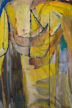 Abstract Portrait Oil on Board - 1042456