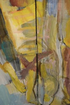Abstract Portrait Oil on Board - 1042457