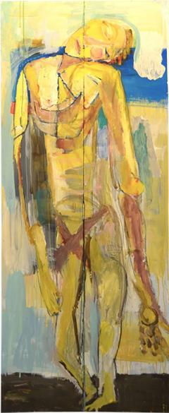 Abstract Portrait Oil on Board - 1042796