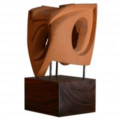 Abstract Sculpture In Terracotta Italy 1968 - 1956066