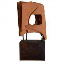 Abstract Sculpture In Terracotta Italy 1968 - 1956084