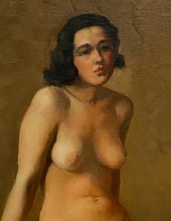 Academic Oil on Canvas of a Female Nude Circa 1930 - 1515365