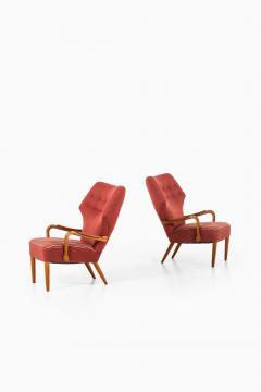 Acton Schubell Easy Chairs and Stool Produced by E Sv Olsen - 1914778