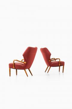 Acton Schubell Easy Chairs and Stool Produced by E Sv Olsen - 1914781