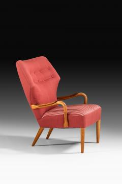 Acton Schubell Easy Chairs and Stool Produced by E Sv Olsen - 1914786