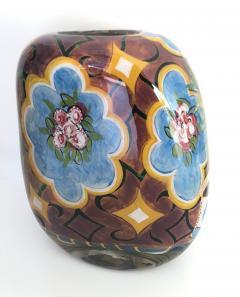 Ada Loumani Matisse Style Art Glass Vase - 1198153
